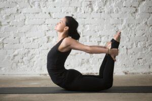 bow pose - YogaFX
